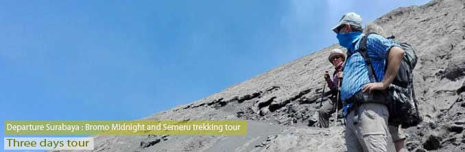 Hike Semeru Bromo - at the top of mount Semeru - East Java