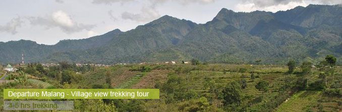 Trekking trhough East Java's villages - Malang, Indonesia