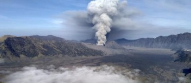B29 viewpoint - south of Mt. Bromo