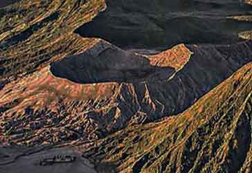 The active volcano Bromo seen from above - East Java