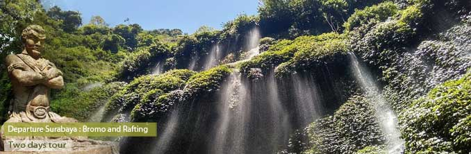 Madakaripura waterfalls near mount Bromo
