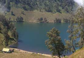 The Kumbolo lake in Bromo-Tengger-Semeru National Park
