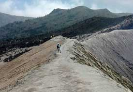 Hike through the caldera in which mount Bromo resides - East Java